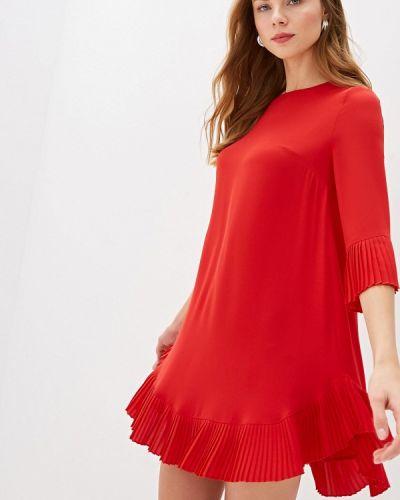 Повседневное платье осеннее красный Blugirl Folies