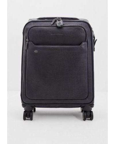 Синий чемодан Piquadro