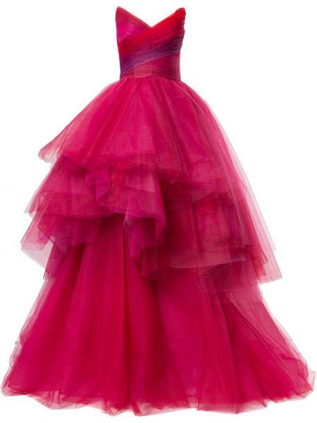 Платье из фатина - розовое Monique Lhuillier