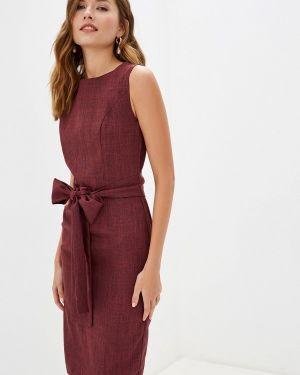Платье бордовый прямое Maurini