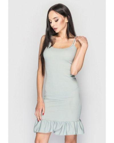 Повседневное платье весеннее бирюзовый 0101 Brand