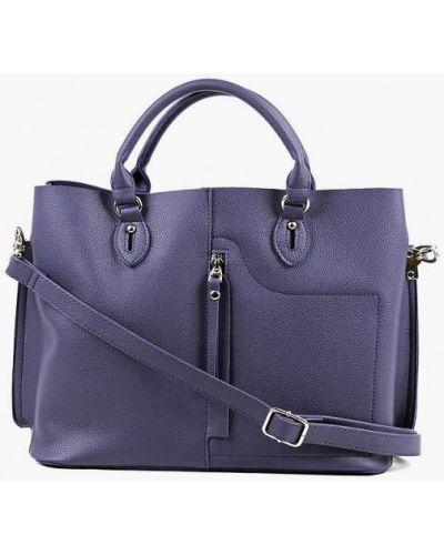 Синяя кожаная сумка медведково