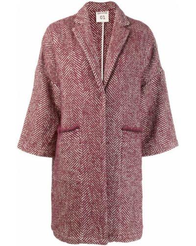 Фиолетовое шерстяное пальто узкого кроя Semicouture
