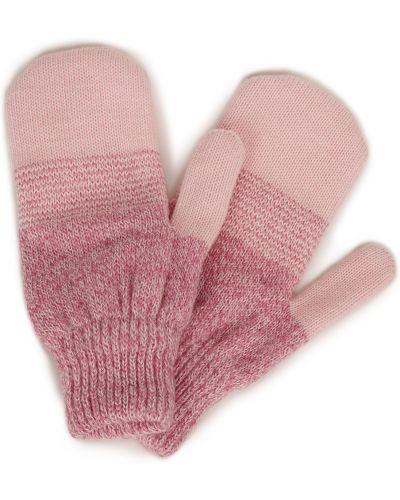 Розовые шерстяные варежки Baon