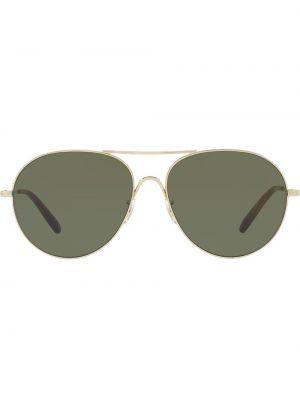Темные солнцезащитные очки - желтые Oliver Peoples