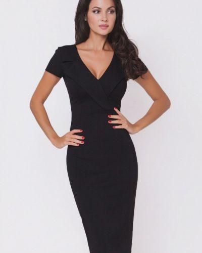 Платье осеннее черное Olga Skazkina