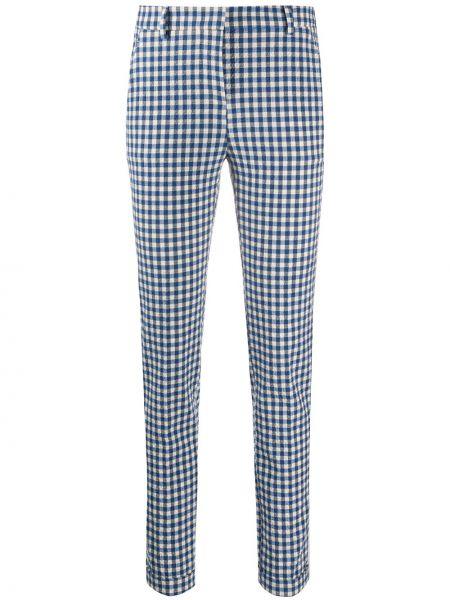 Синие укороченные брюки с карманами на молнии Incotex