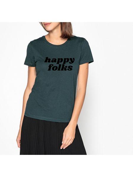 Футбольная классическая бархатная футболка с круглым вырезом Ikks
