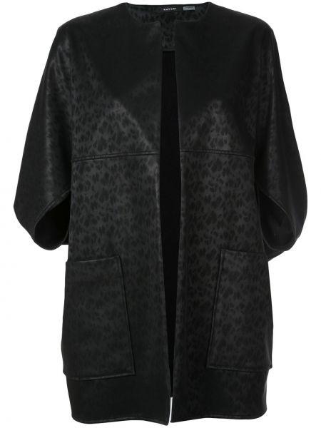 Куртка черная леопардовая Natori