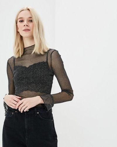 Блузка весенний черная Zeza