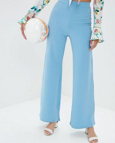 Голубые расклешенные брюки Naanaa