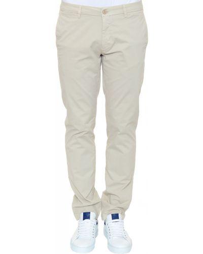 Хлопковые брюки - бежевые Corneliani
