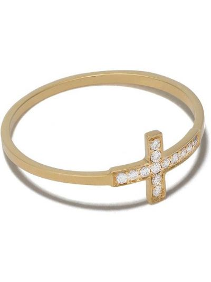 Z rombem krzyż złoto z diamentem Feidt Paris
