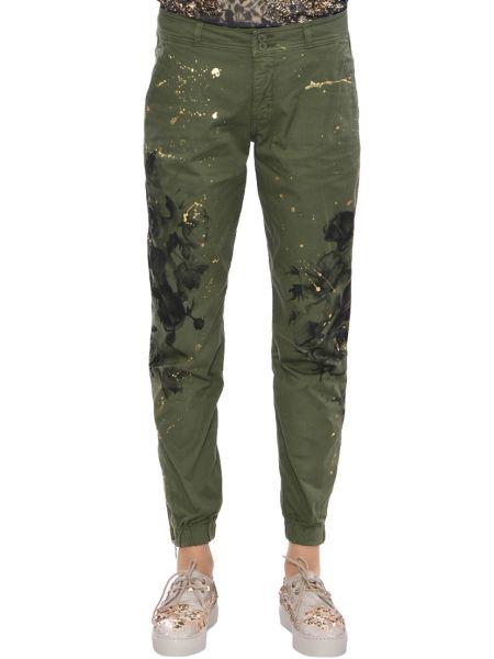 Хлопковые джинсы - зеленые Up Jeans