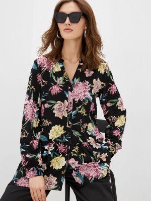 Черная блузка с длинными рукавами Zolla