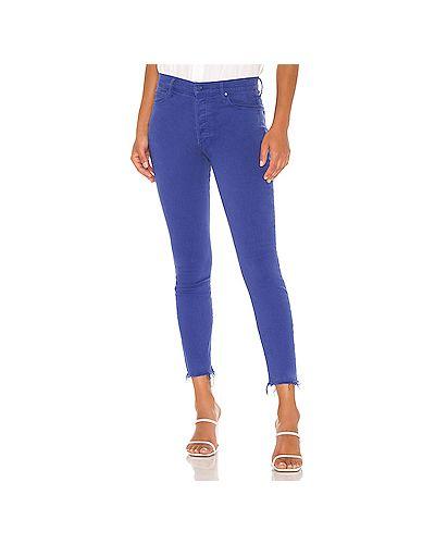 Хлопковые джинсы-скинни на пуговицах скинни Mother