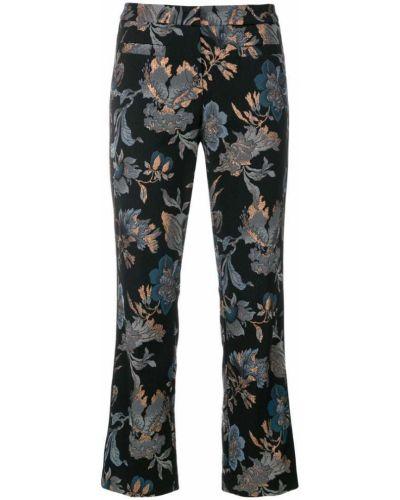 Укороченные брюки с пайетками в цветочный принт Cambio