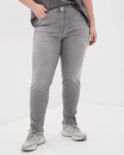 Серые джинсы-скинни узкого кроя Samoon By Gerry Weber