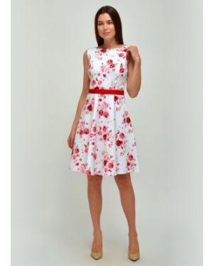 Летнее платье миди с V-образным вырезом Viserdi