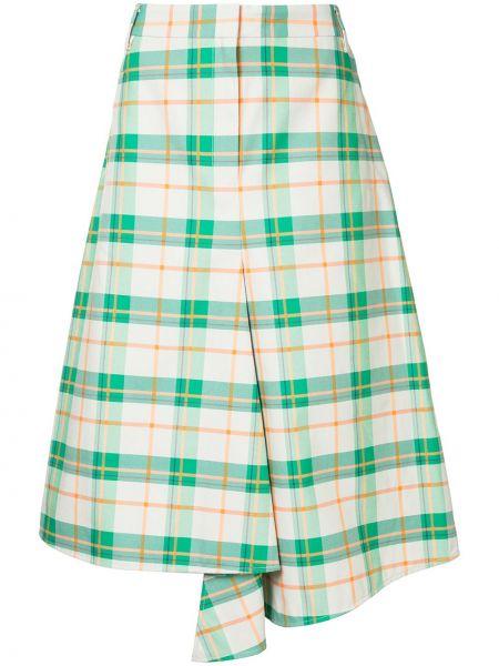 Wyposażone zielony spódnica w połowie kolana Tibi