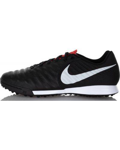 Черные бутсы кожаные Nike