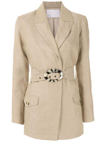 Классический пиджак с поясом с лацканами Nk