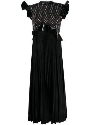 Sukienka w grochy - czarna Christopher Kane
