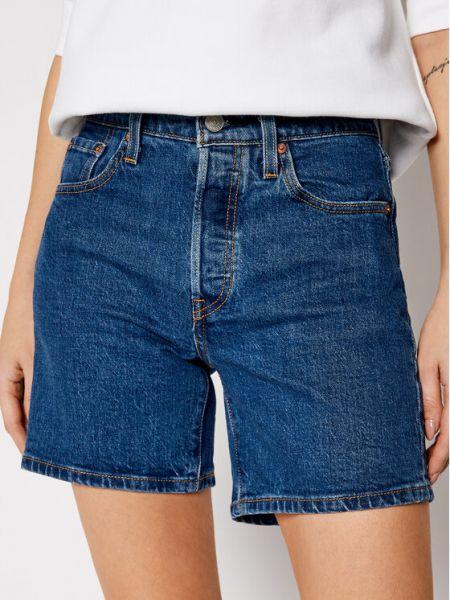 Szorty jeansowe - granatowe Levi's