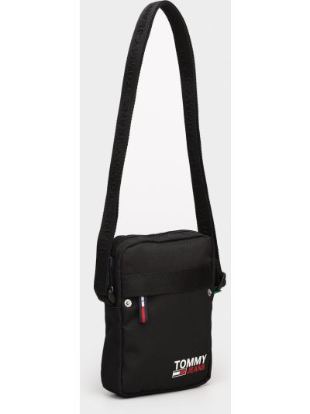 Черная сумка-мессенджер Tommy Hilfiger
