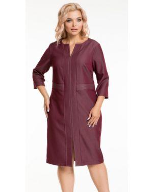 Джинсовое платье через плечо с поясом Novita