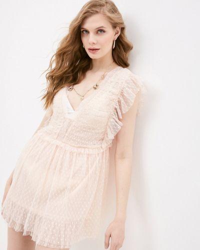 Пляжное розовое платье Pilyq