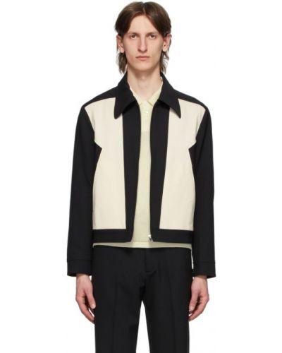 С рукавами белая длинная куртка с манжетами с воротником Second/layer