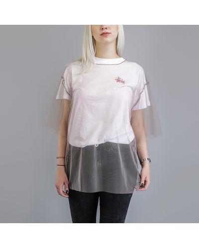 Бежевая футболка Stussy