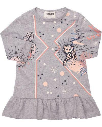 Хлопковое платье Kenzo Kids