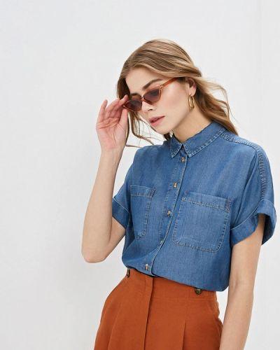 Джинсовая рубашка синяя Marks & Spencer