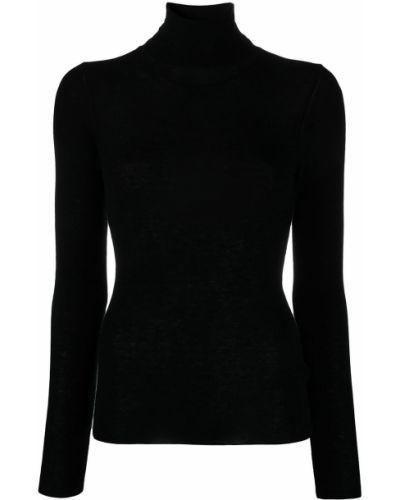 Черный с рукавами джемпер в рубчик Ba&sh