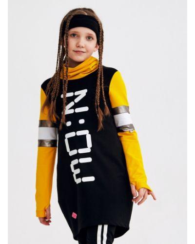 Хлопковое повседневное платье с надписью Nota Bene