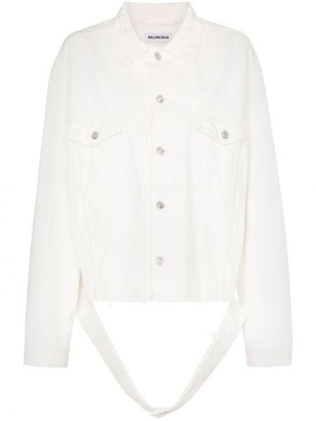 Джинсовая куртка оверсайз с бахромой Balenciaga