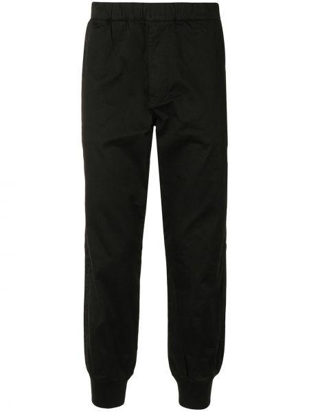 Хлопковые черные укороченные брюки с накладными карманами Aape By A Bathing Ape