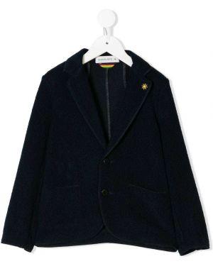 Темно-синий акриловый пиджак на пуговицах Manuel Ritz Kids