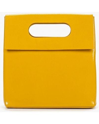 Кожаный сумка лаковая через плечо Topshop