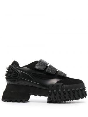 Czarne sneakersy skorzane Rombaut