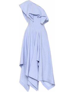 Платье миди льняное королевы Alexander Mcqueen