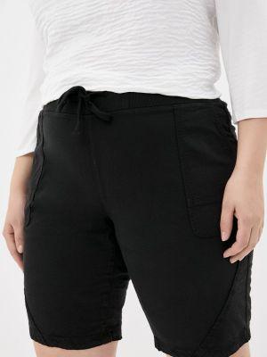 Черные повседневные шорты Zizzi