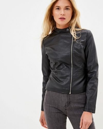 Кожаная куртка черная осенняя Incity