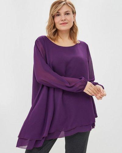 Блузка с длинным рукавом осенняя фиолетовый Darissa Fashion