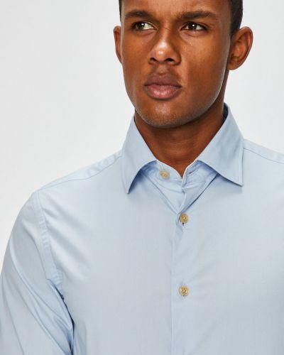 Рубашка с длинным рукавом однотонная хлопковая G-star Raw