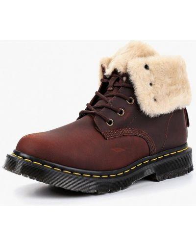 Кожаные ботинки осенние бордовые Dr Martens