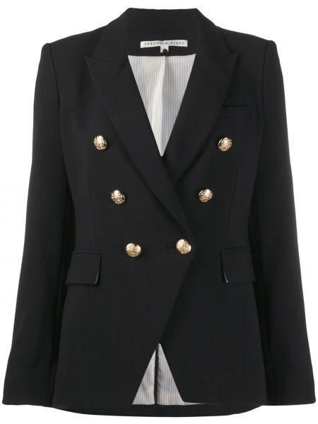 Черный пиджак с подкладкой из вискозы на пуговицах Veronica Beard