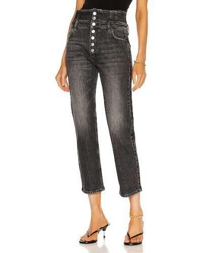 Czarne jeansy z wysokim stanem bawełniane Marissa Webb